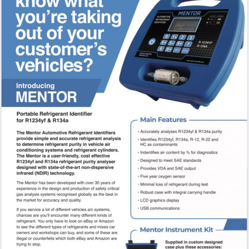 Mentor Gas Analyser